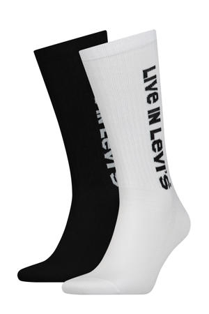 sokken Vintage Cu - set van 2 wit/zwart