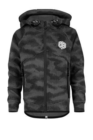 vest Orhan met camouflageprint zwart/grijs