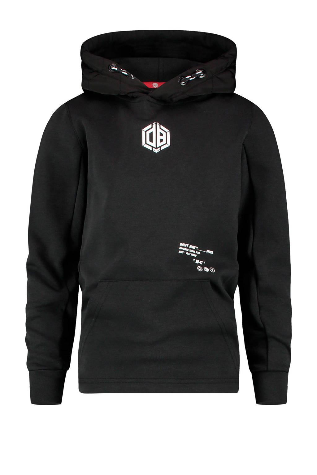 Vingino Daley Blind hoodie Nessil met logo zwart, Zwart