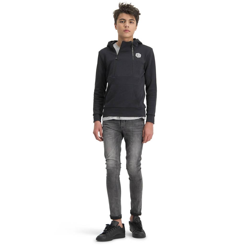 Vingino Daley Blind hoodie Nani met logo zwart, Zwart