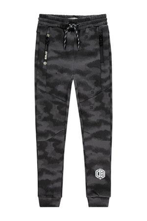 joggingbroek Rameck met camouflageprint zwart/grijs