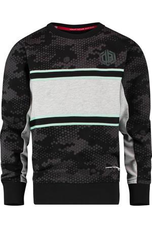sweater Nenzo zwart/grijs melange