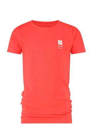 T-shirt met biologisch katoen felrood