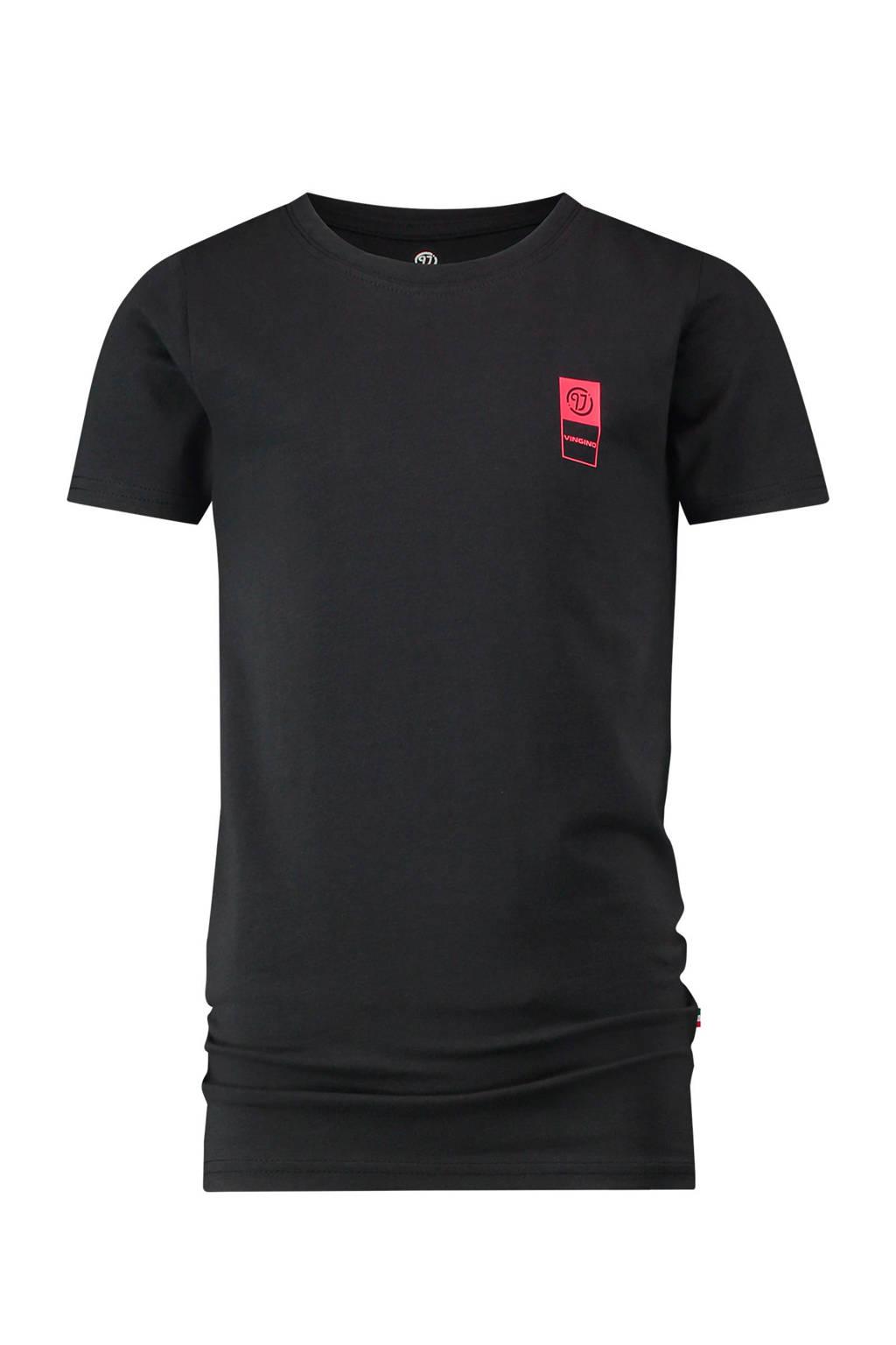 Vingino Essentials T-shirt met biologisch katoen zwart, Zwart