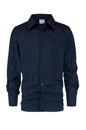 overhemd met biologisch katoen donkerblauw