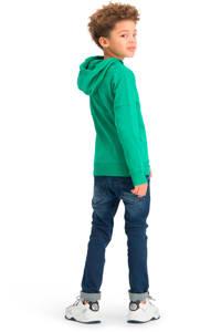 Vingino Essentials hoodie met biologisch katoen donkergroen, Donkergroen