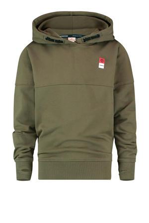 hoodie met biologisch katoen army groen