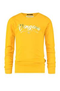 Vingino Essentials longsleeve met logo met biologisch katoen okergeel, Okergeel