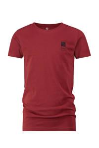 Vingino Essentials T-shirt met biologisch katoen donkerrood, Donkerrood