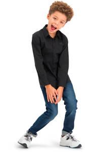 Vingino Essentials overhemd met biologisch katoen zwart, Zwart