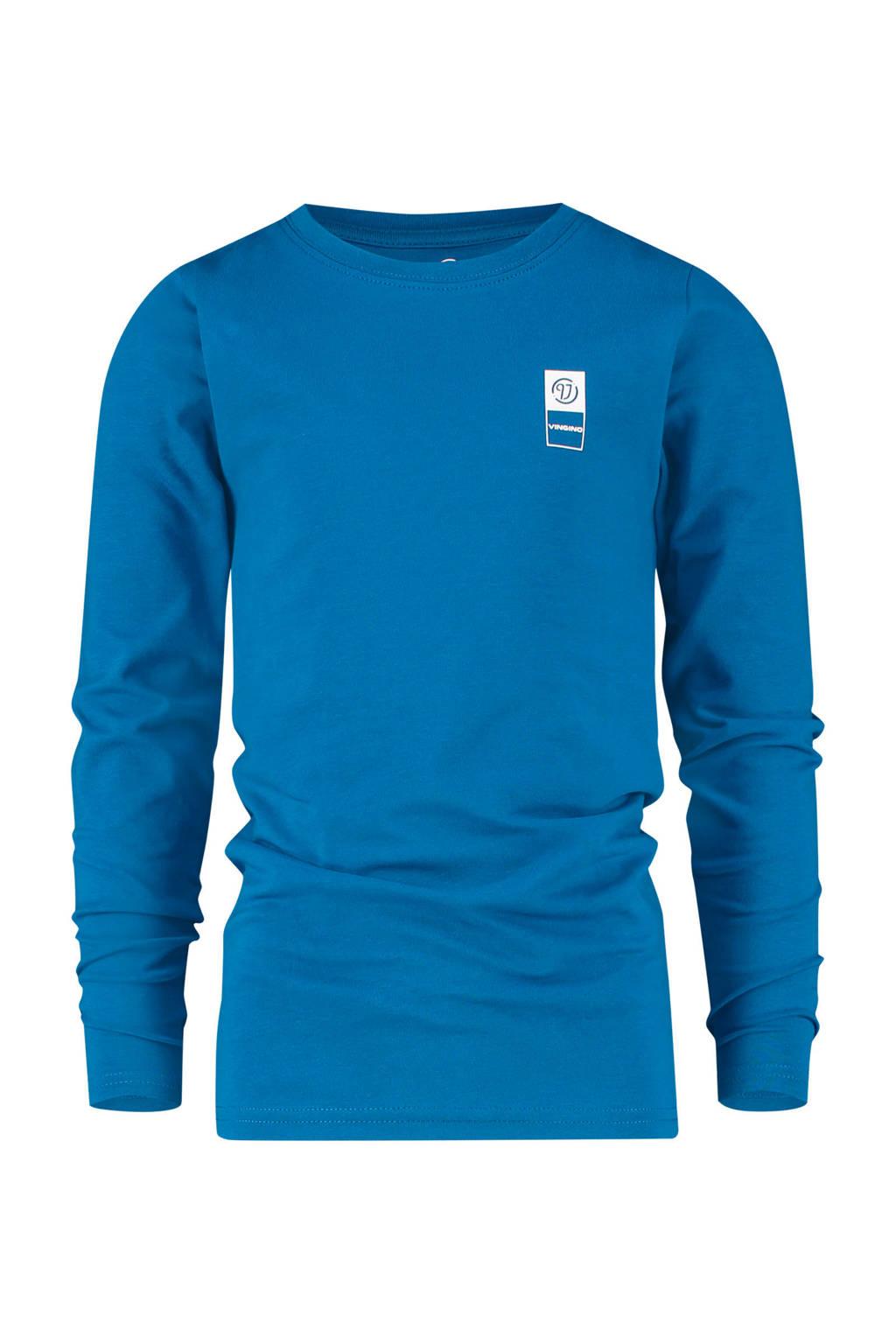 Vingino Essentials longsleeve met biologisch katoen blauw, Blauw
