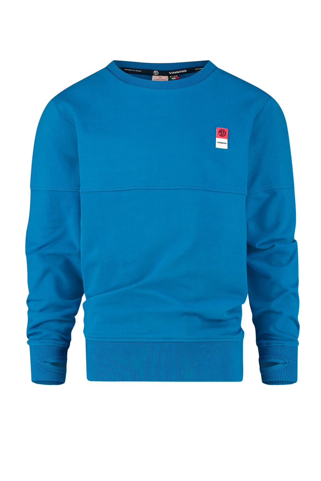 Vingino Essentials sweater met biologisch katoen blauw, Blauw