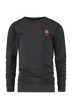 longsleeve T-shirt met biologisch katoen zwart