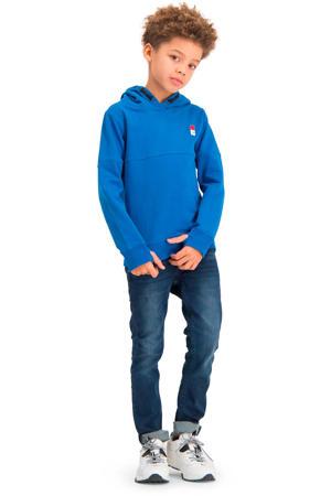 hoodie met biologisch katoen blauw