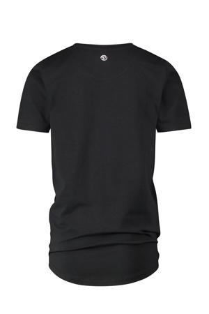 T-shirt met logo met biologisch katoen zwart/wit