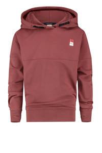Vingino Essentials hoodie met biologisch katoen bordeaux, Bordeaux