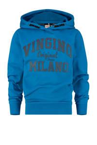 Vingino Essentials hoodie met logo blauw/zwart, Blauw/zwart