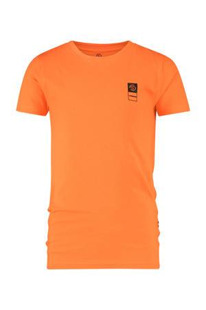 T-shirt met biologisch katoen oranje