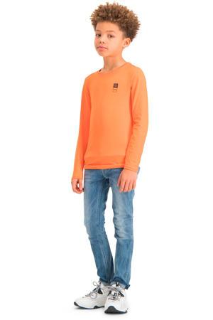 longsleeve met biologisch katoen oranje