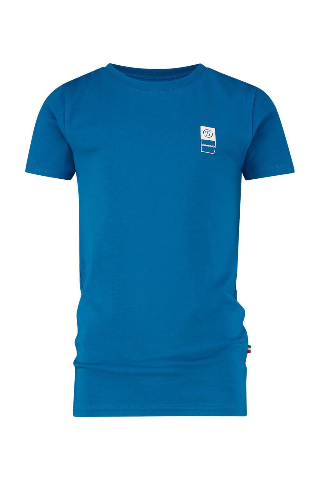 Vingino Essentials T-shirt met biologisch katoen blauw, Blauw