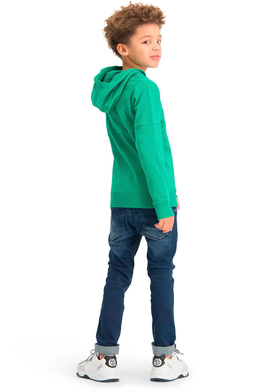 Vingino Essentials hoodie met biologisch katoen groen, Groen