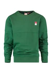Vingino Essentials sweater met biologisch katoen donkergroen, Donkergroen