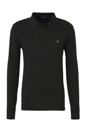 regular fit polo met logo zwart