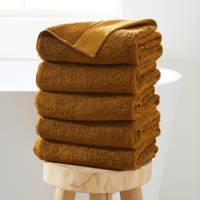 Wehkamp Home handdoek hotelkwaliteit (set van 5) (50x100 cm), Toffee