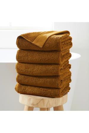 handdoek hotelkwaliteit (set van 5) (50 x 100 cm) Toffee