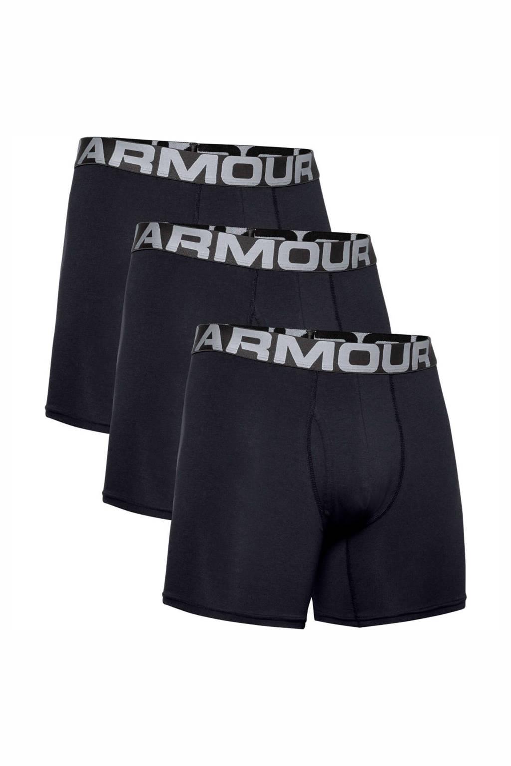 Under Armour sportboxer - set van 3, Zwart