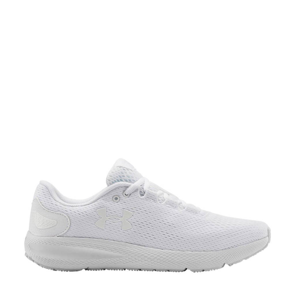 Under Armour Charged Pursuit 2 hardloopschoenen wit, Wit