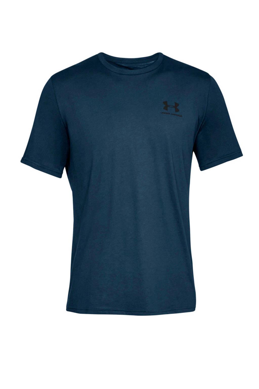Under Armour   sport T-shirt donkerblauw, Donkerblauw