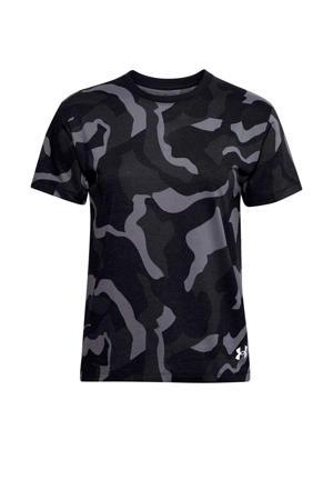 sport T-shirt zwart/grijs