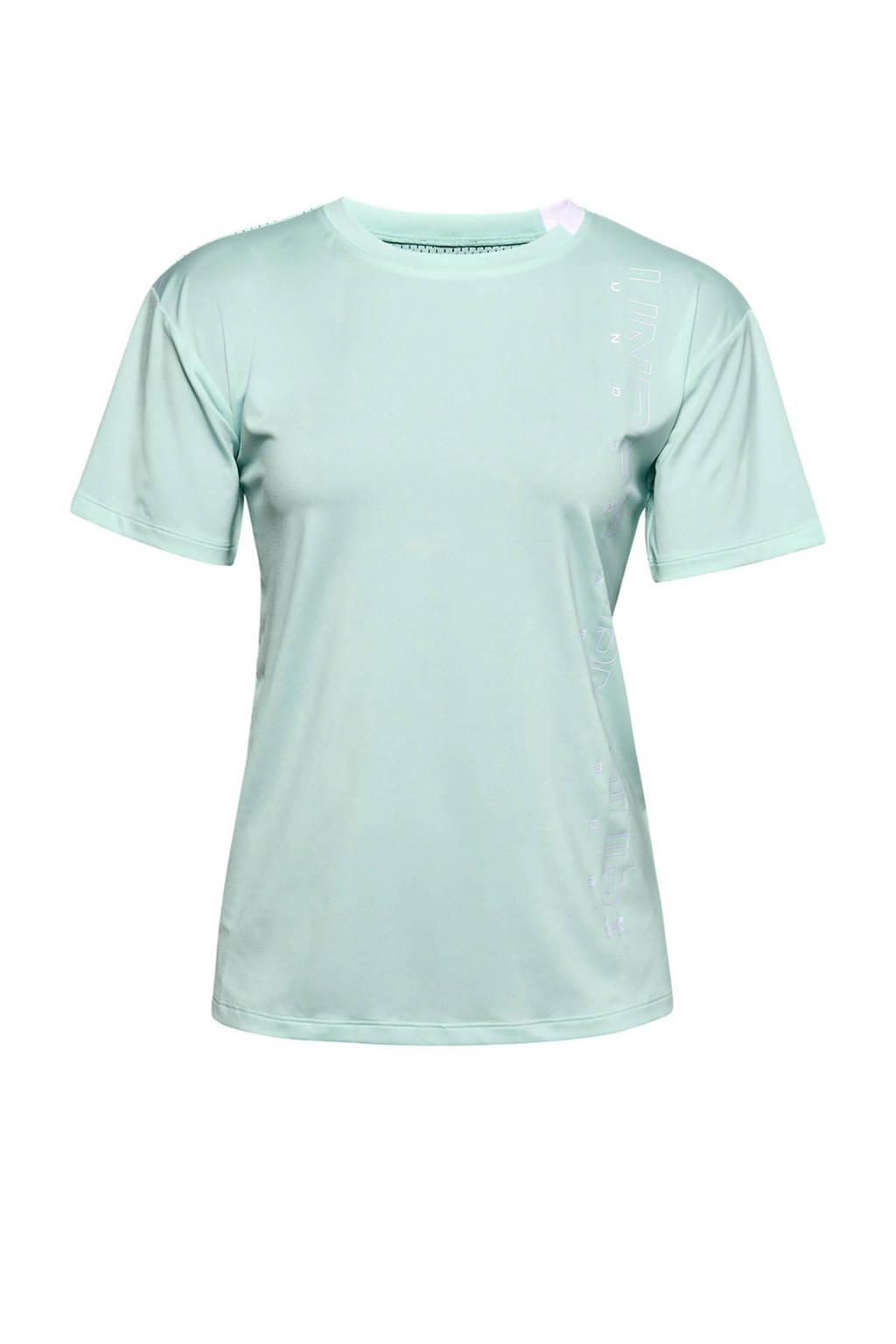 Under Armour sport T-shirt mintgroen, Lichtgroen
