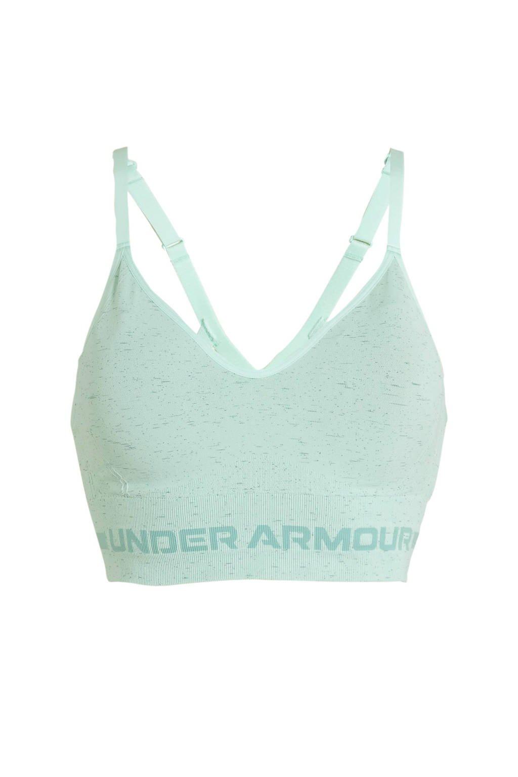 Under Armour level 1 sportbh mintgroen, Mintgroen