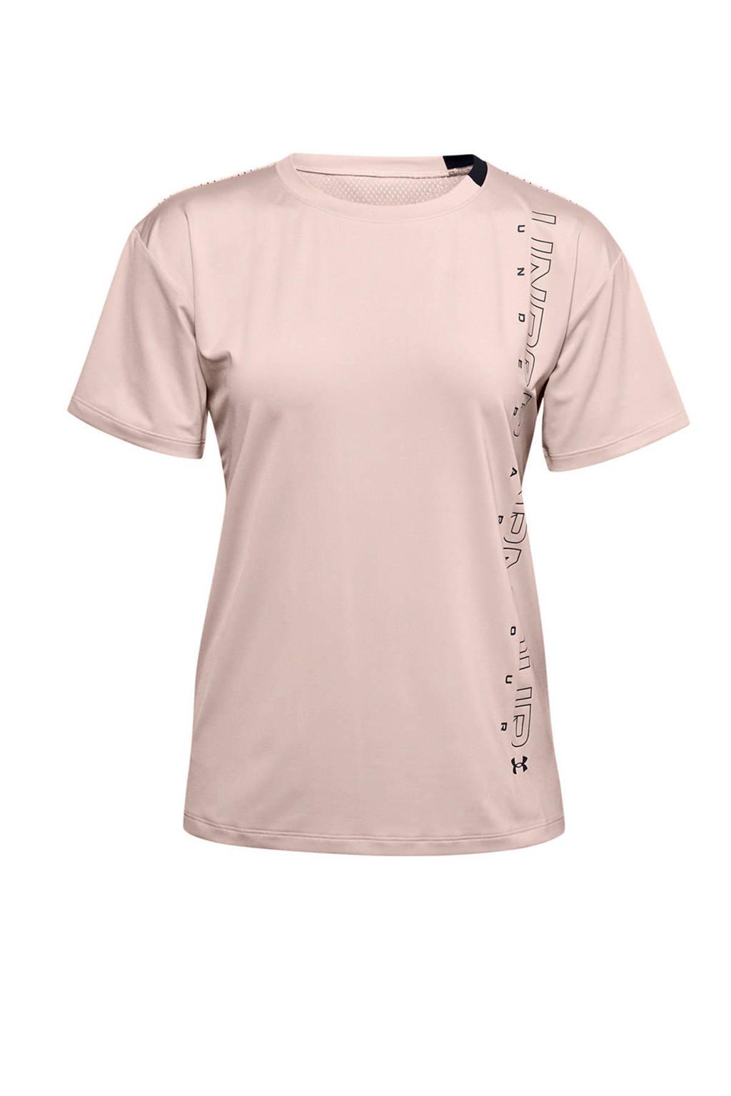 Under Armour sport T-shirt oudroze, Oudroze
