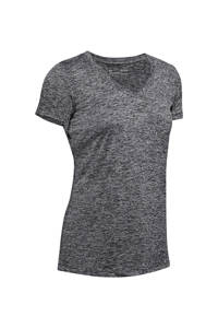 Under Armour sport T-shirt zwart/wit, Zwart/wit