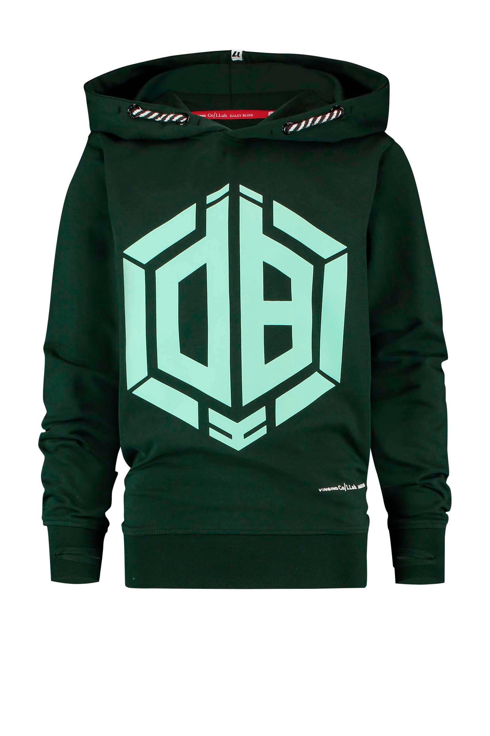 Vingino Daley Blind hoodie Nais met logo mintgroenzwart