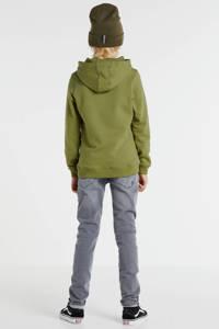 Ballin hoodie met logo legergroen/zwart, Legergroen