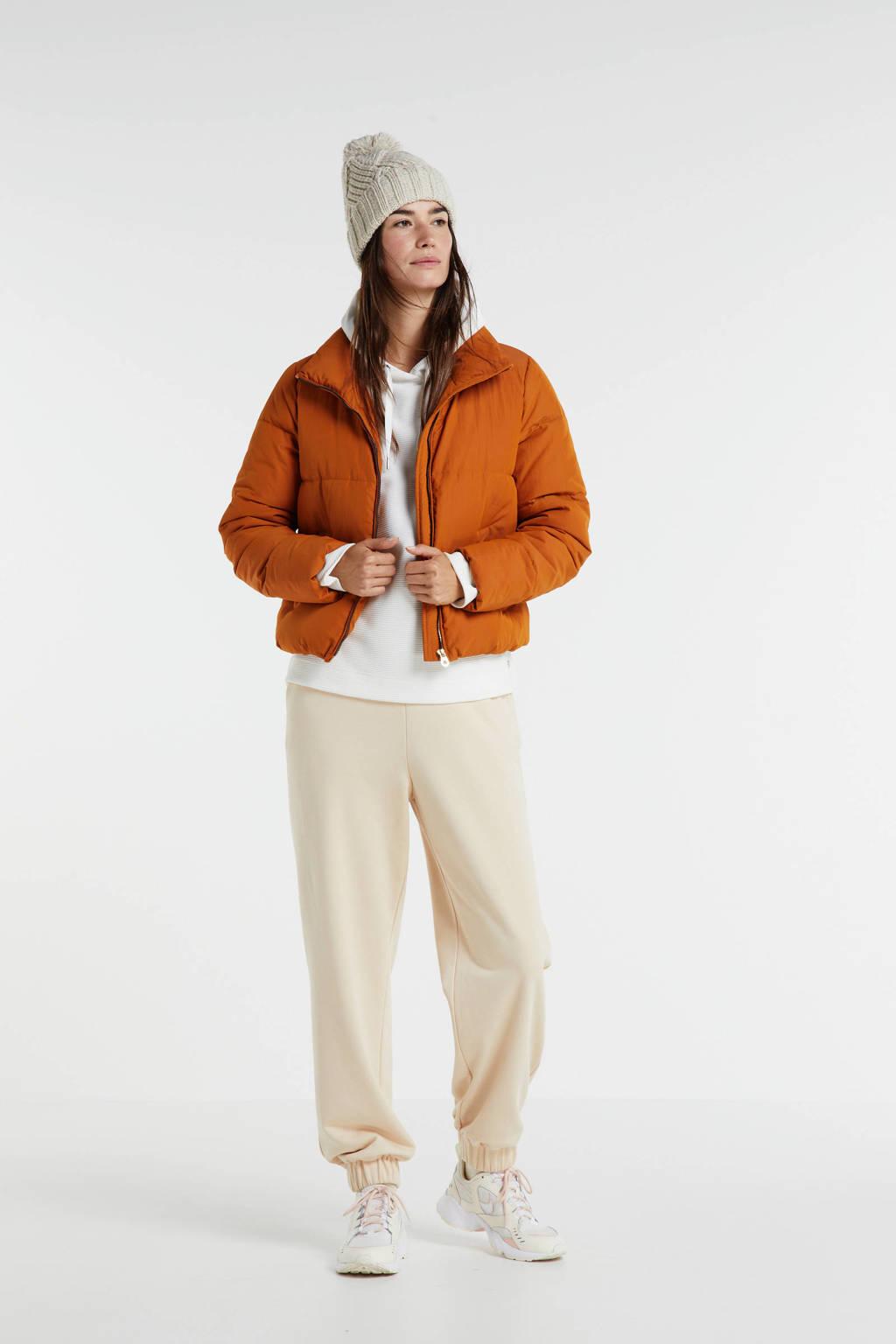 ONLY gewatteerde jas oranje, Oranje