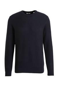 edc Men fijngebreide trui van biologisch katoen zwart, Zwart