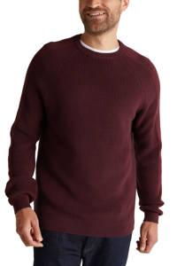 ESPRIT Men Casual trui van biologisch katoen donkerrood, Donkerrood