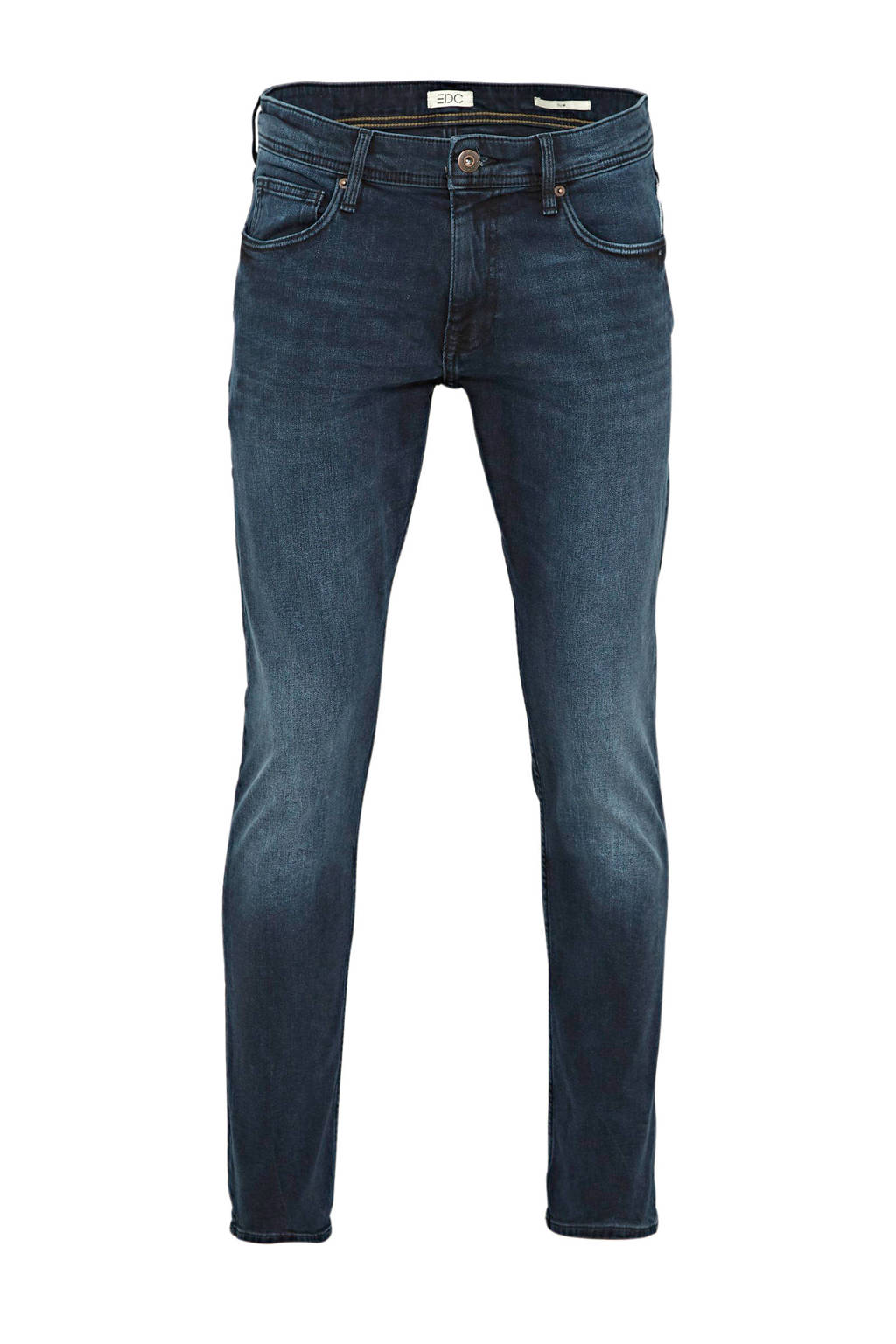 edc Men slim fit jeans dark denim, Dark denim