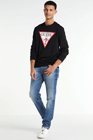 sweater Audley met logo zwart