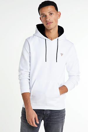hoodie Christian wit/donkerblauw