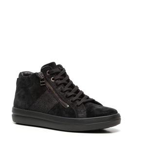 hoge leren sneakers zwart