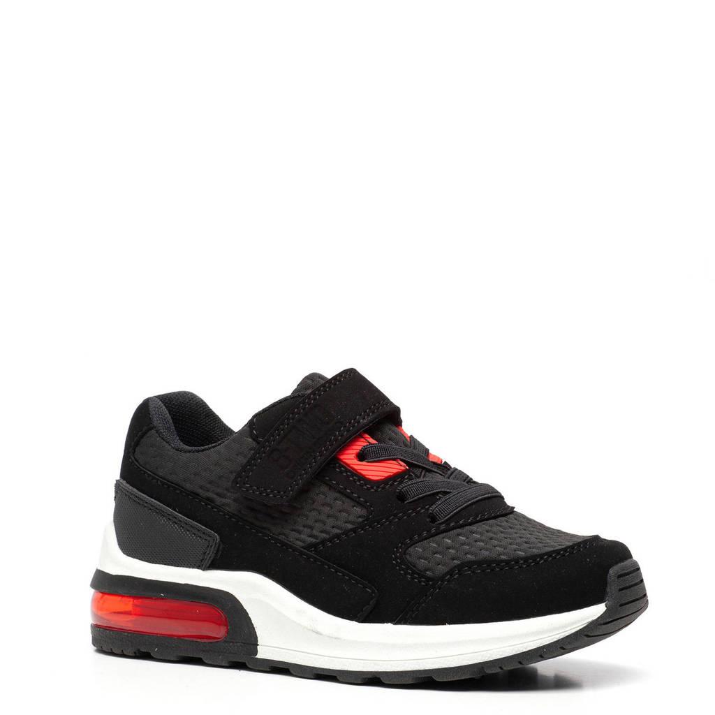 Scapino Blue Box   sneakers zwart, Zwart/rood