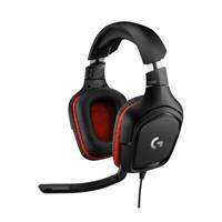 Logitech  G332 gaming headset, Zwart, Rood