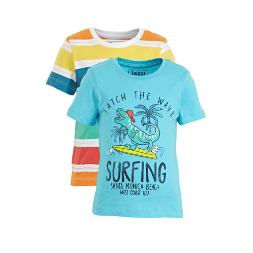 C&A Palomino T-shirt - set van 2 blauw/geel/ro