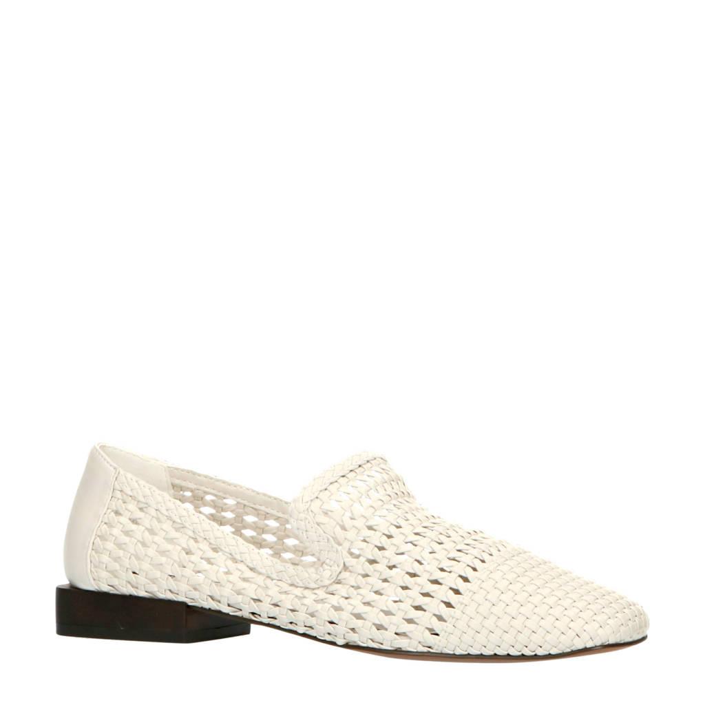 Mango   gevlochten loafers off white, Off White